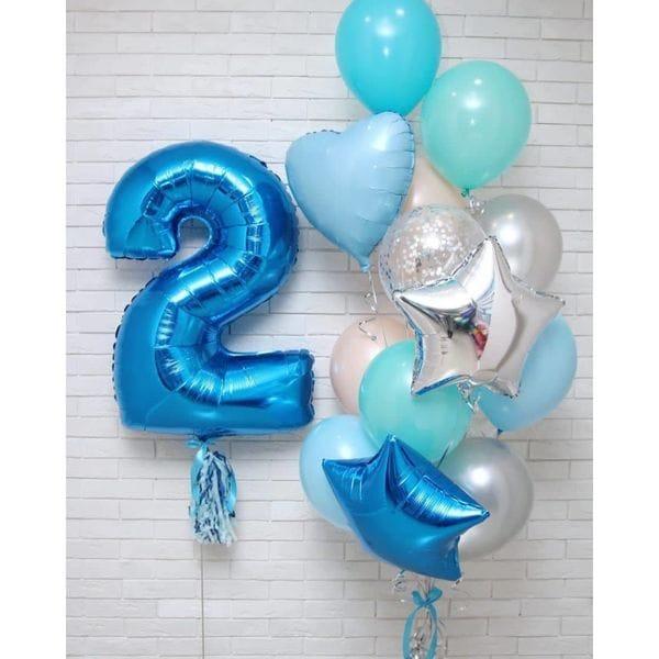 Воздушные шары. Доставка в Москве: Шары на День Рождения 2 года мальчику Цены на https://sharsky.msk.ru/