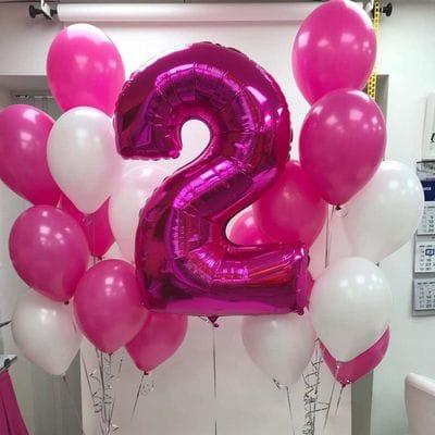 Шары на День Рождения 2 года для девочки