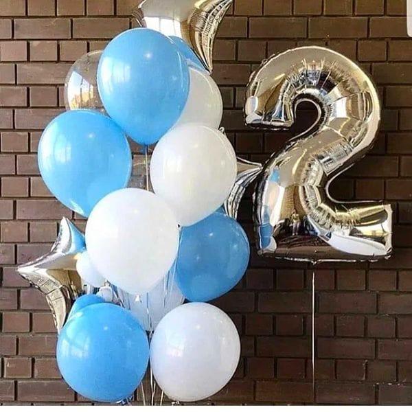 Воздушные шары. Доставка в Москве: Воздушные шары на День Рождения 2 года Цены на https://sharsky.msk.ru/