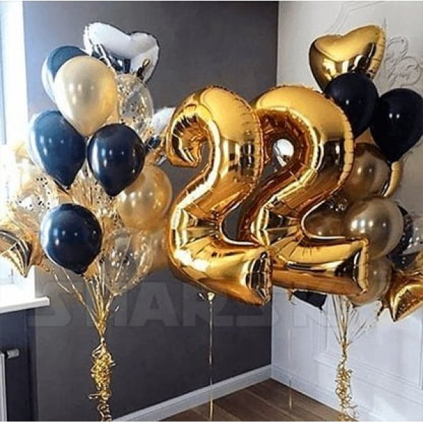 Воздушные шары. Доставка в Москве: Шарики на День Рождения 22 года Цены на https://sharsky.msk.ru/