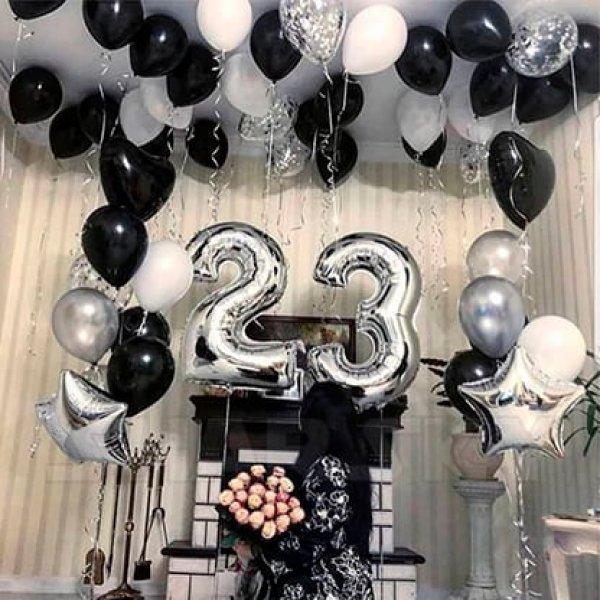 Воздушные шары. Доставка в Москве: Шарики на День Рождения 23 года Цены на https://sharsky.msk.ru/