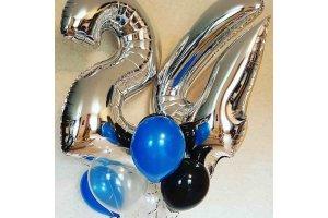 Букет воздушных шаров на 24 года