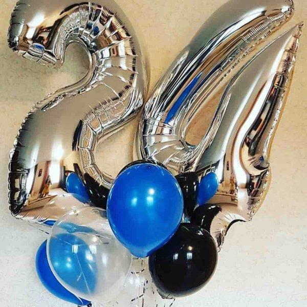 Воздушные шары. Доставка в Москве: Букет воздушных шаров на 24 года Цены на https://sharsky.msk.ru/