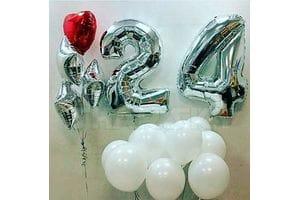 Шарики на День Рождения 24 года