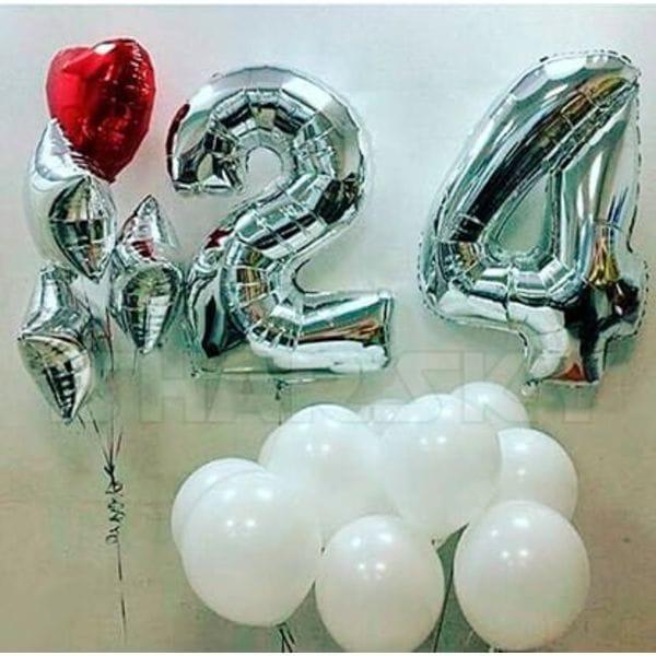 Воздушные шары. Доставка в Москве: Шарики на День Рождения 24 года Цены на https://sharsky.msk.ru/