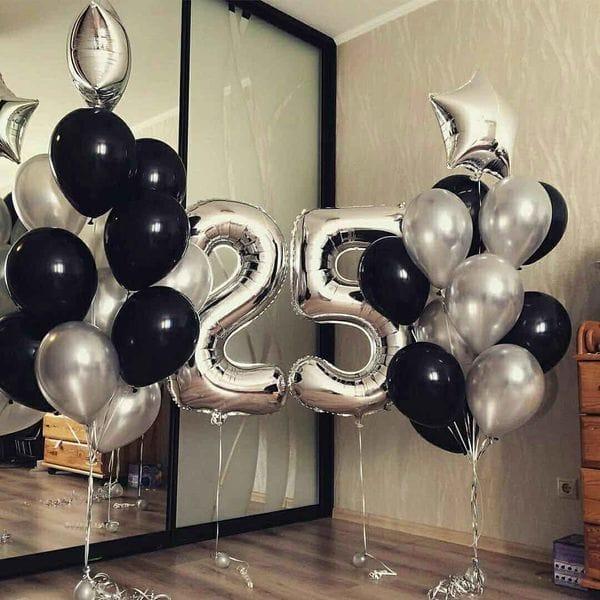 Воздушные шары. Доставка в Москве: Шары на 25 лет мужчине Цены на https://sharsky.msk.ru/