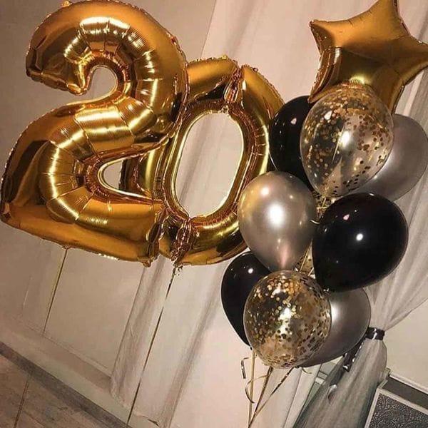Воздушные шары. Доставка в Москве: Воздушные шарики на 20 лет Цены на https://sharsky.msk.ru/