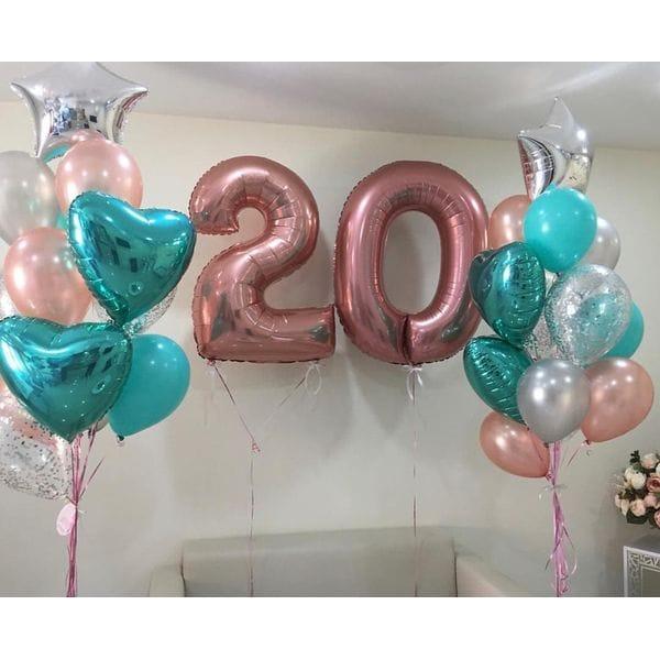 Воздушные шары. Доставка в Москве: Шары на День Рождения 20 лет Цены на https://sharsky.msk.ru/