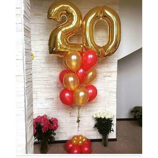 Воздушные шары. Доставка в Москве: Шарики на 20 лет девушке Цены на https://sharsky.msk.ru/