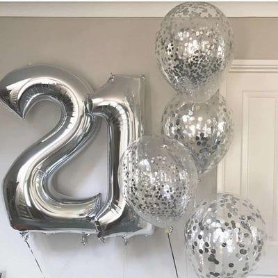 Букет шаров на 21 год