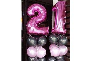 Воздушные шары на 21 год девушке