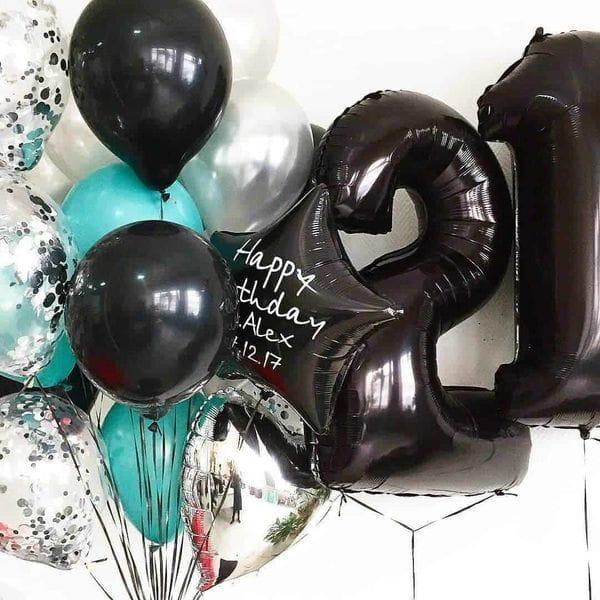 Воздушные шары. Доставка в Москве: Букет шариков на 21 год Цены на https://sharsky.msk.ru/