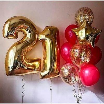 Шары на День Рождения 21 год
