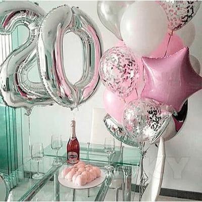 Воздушные шары на 20 лет
