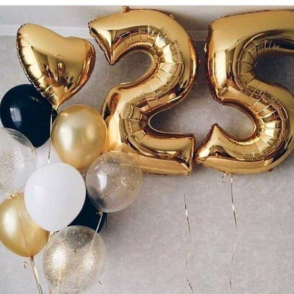 Воздушные шары. Доставка в Москве: Шары на 25 лет девушке Цены на https://sharsky.msk.ru/