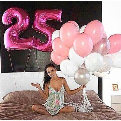 Шарики на День Рождения 25 лет девушке