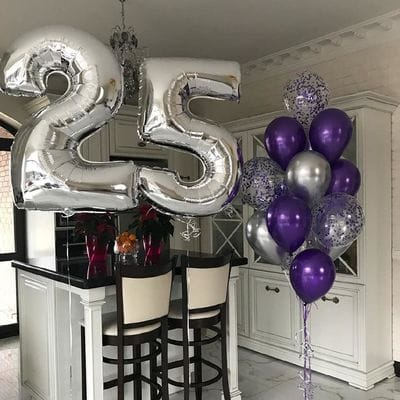 Шары на День Рождения 25 лет