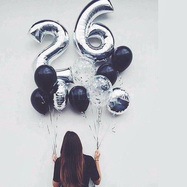 Воздушные шары. Доставка в Москве: Шарики на 26 лет Цены на https://sharsky.msk.ru/