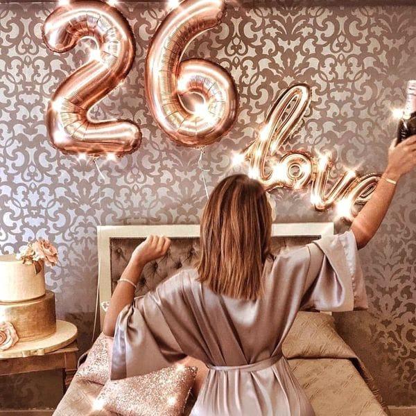 Воздушные шары. Доставка в Москве: Шары на 26 лет для любимой Цены на https://sharsky.msk.ru/