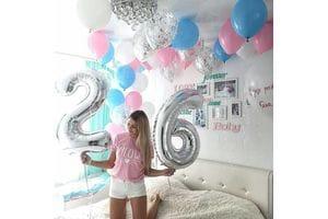 Шикарный сет шаров на 26 лет