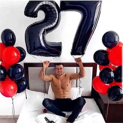 Шары на 27 лет парню