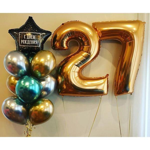 Воздушные шары. Доставка в Москве: Шары на День Рождения 27 лет Цены на https://sharsky.msk.ru/