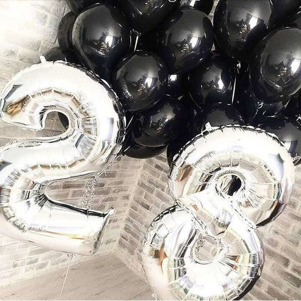Воздушные шары. Доставка в Москве: Букет шаров на 28 лет Цены на https://sharsky.msk.ru/