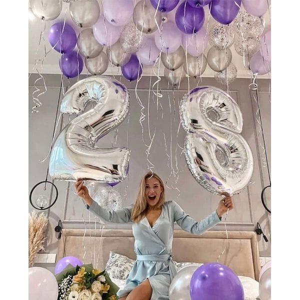 Воздушные шары. Доставка в Москве: Шарики на 28-летиие для девушки Цены на https://sharsky.msk.ru/