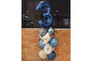Композиция из шаров на 3 года мальчику