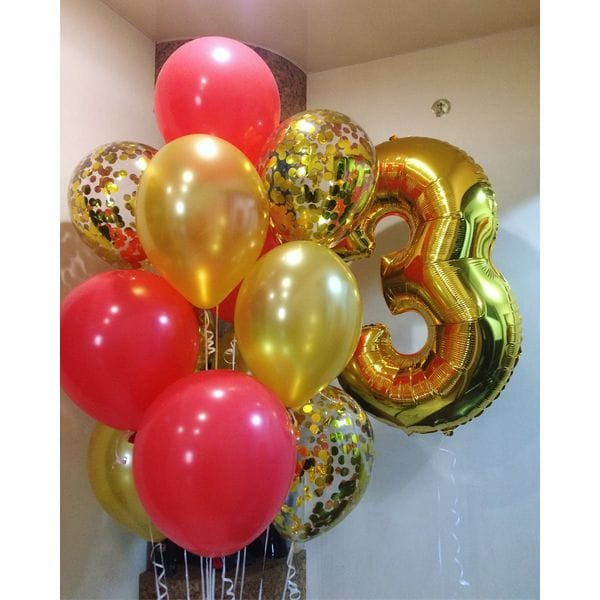 Воздушные шары. Доставка в Москве: Шарики на 3 года девочке Цены на https://sharsky.msk.ru/