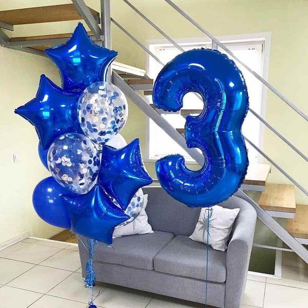 Воздушные шары. Доставка в Москве: Шары на День Рождения 3 года мальчику Цены на https://sharsky.msk.ru/