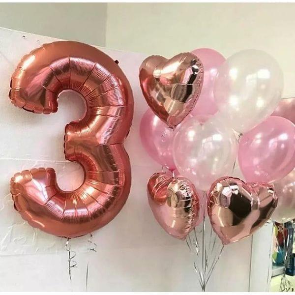 Воздушные шары. Доставка в Москве: Шарики на День Рождения ребенку 3 годика Цены на https://sharsky.msk.ru/