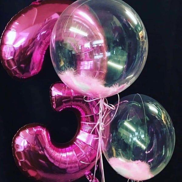 Воздушные шары. Доставка в Москве: Шарики на День Рождения девочке 3 года Цены на https://sharsky.msk.ru/