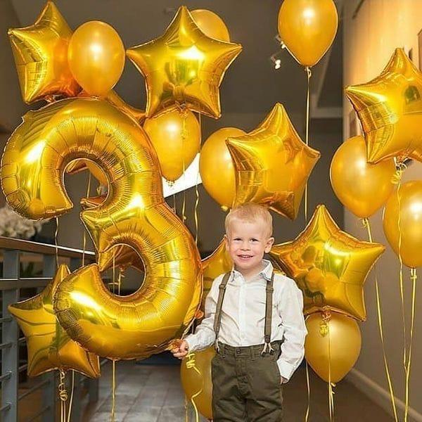 Воздушные шары. Доставка в Москве: Шары ребенку на 3 года Цены на https://sharsky.msk.ru/