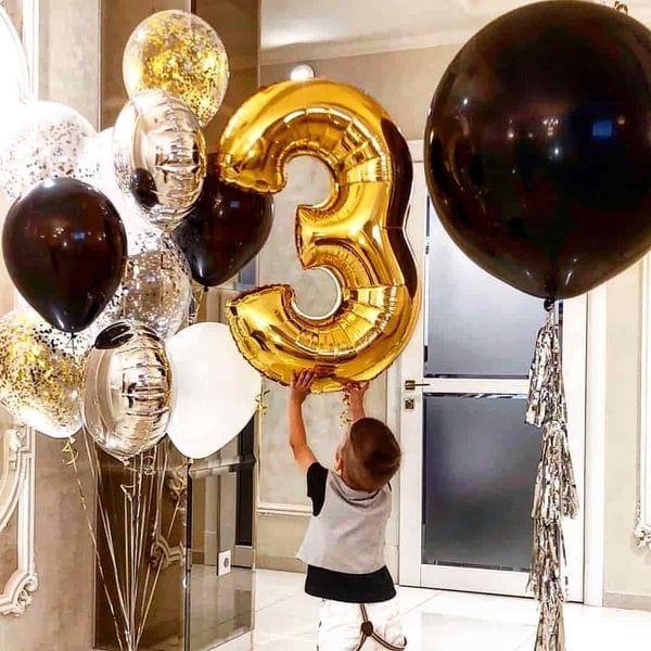 Воздушные шары. Доставка в Москве: Шарики ребенку на 3 годика Цены на https://sharsky.msk.ru/