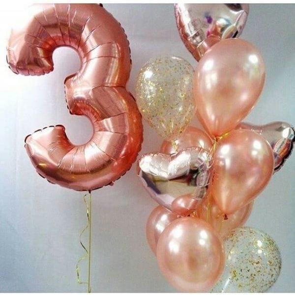 Воздушные шары. Доставка в Москве: Шары на 3 года девочке Цены на https://sharsky.msk.ru/