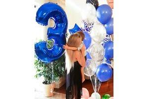 Шары на День Рождения мальчику 3 года