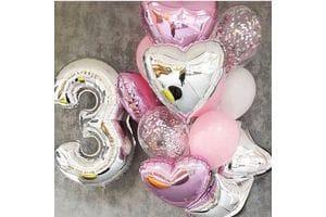 Украшение шарами на 3 года девочке