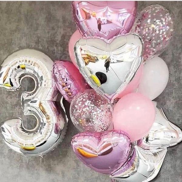 Воздушные шары. Доставка в Москве: Украшение шарами на 3 года девочке Цены на https://sharsky.msk.ru/