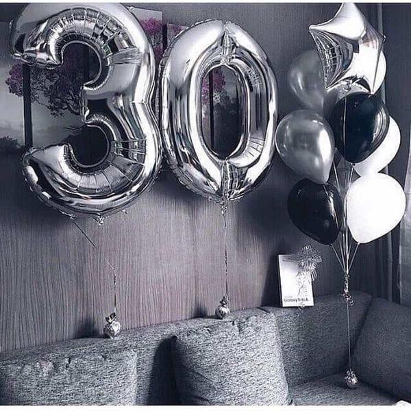 Воздушные шары. Доставка в Москве: Шары на 30 лет парню Цены на https://sharsky.msk.ru/