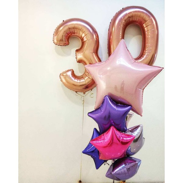 Воздушные шары. Доставка в Москве: Композиция из шаров на 30 лет Цены на https://sharsky.msk.ru/