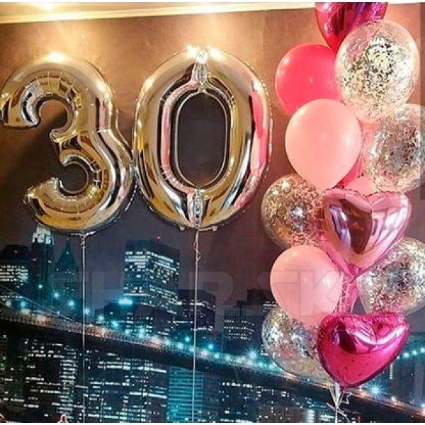 Воздушные шары. Доставка в Москве: Украшение шарами на 30 лет дочери Цены на https://sharsky.msk.ru/