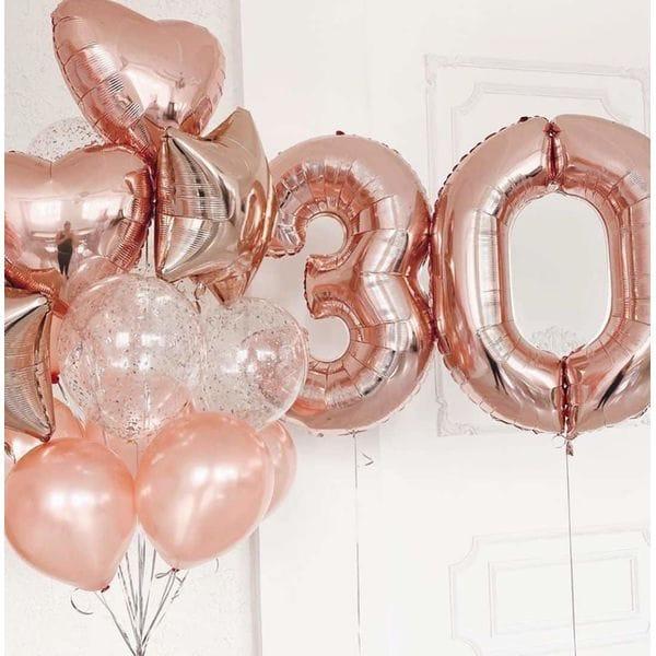 Воздушные шары. Доставка в Москве: Букет воздушных шаров любимой на 30 лет Цены на https://sharsky.msk.ru/
