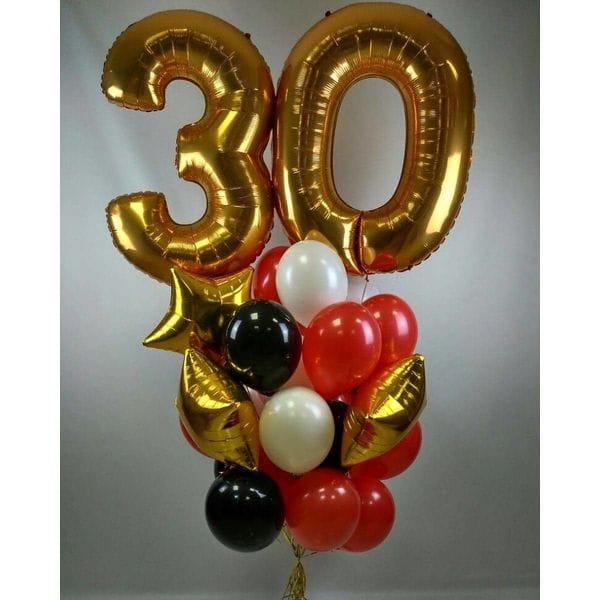 Воздушные шары. Доставка в Москве: Букет воздушных шаров на 30 лет Цены на https://sharsky.msk.ru/