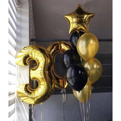 Фонтан воздушных шаров на 30 лет