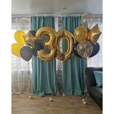 Фонтаны шаров на 30 лет