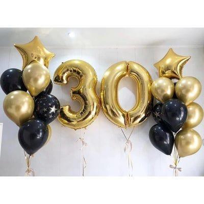 Фонтаны шаров на 30 лет парню