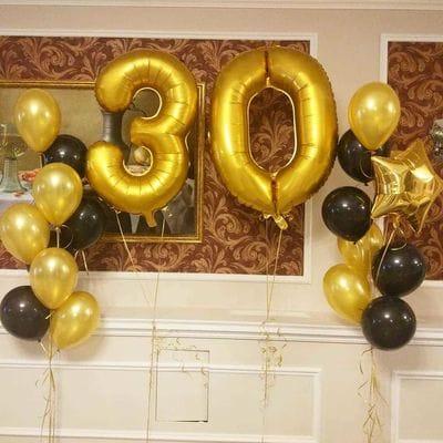 Фонтаны шаров на 30-летие