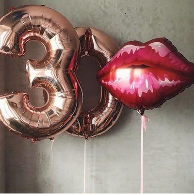 Композиция из шаров на 30 лет девушке