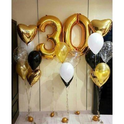 Набор воздушных шаров на 30 лет